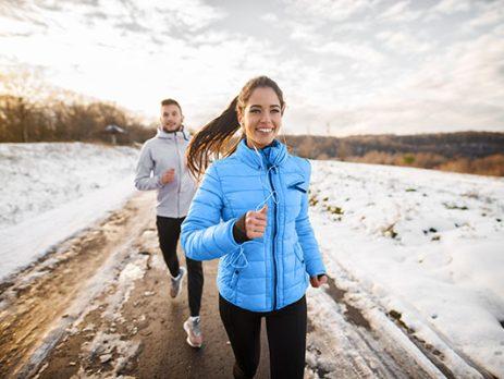 Healthy habits couple running.